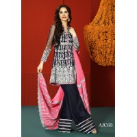 Asim Jofa Luxury Embroidered Chiffon Collection 2016 Original - 03 Pcs Suit - AJC-06B