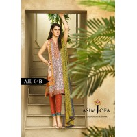 Asim Jofa Luxury Lawn Collection 2016 Original - 03 Pcs Suit AJL4-B
