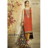 Asim Jofa Luxury Lawn Collection 2016 Original - 03 Pcs Suit AJL5-A