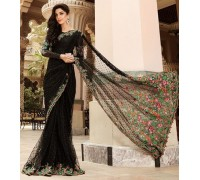 Maria B Chiffon Embroidered Saree Collection 2017 Master Replica - BD-806