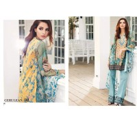 Tena Durrani Luxury Lawm 2016 Original - 03 Pcs Suite Cerulean /08