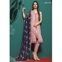 Asim Jofa Luxury Embroidered Chiffon Collection 2016 Original - 03 Pcs Suit - AJC-03A