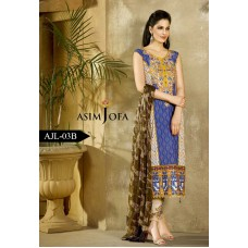 Asim Jofa Luxury Lawn Collection 2016 Original - 03 Pcs Suit AJL3-B