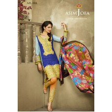 Asim Jofa Luxury Lawn Collection 2016 Original - 03 Pcs Suit AJL10-A