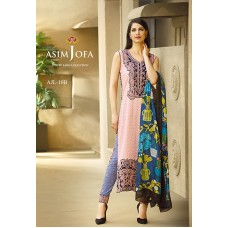 Asim Jofa Luxury Lawn Collection 2016 Original - 03 Pcs Suit AJL10-B