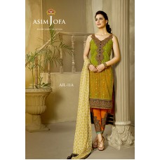 Asim Jofa Luxury Lawn Collection 2016 Original - 03 Pcs Suit AJL11-A