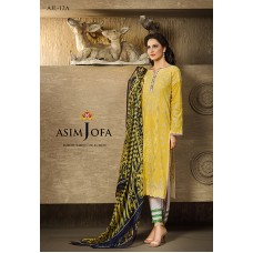 Asim Jofa Luxury Lawn Collection 2016 Original - 03 Pcs Suit AJL12-A