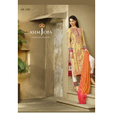 Asim Jofa Luxury Lawn Collection 2016 Original - 03 Pcs Suit AJL12-B