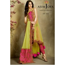 Asim Jofa Luxury Lawn Collection 2016 Original - 03 Pcs Suit AJL13-A