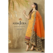 Asim Jofa Luxury Lawn Collection 2016 Original - 03 Pcs Suit AJL13-B