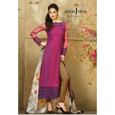 Asim Jofa Luxury Lawn Collection 2016 Original - 03 Pcs Suit AJL14-B