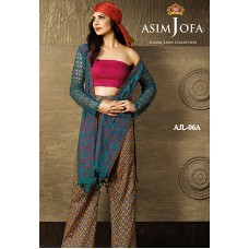 Asim Jofa Luxury Lawn Collection 2016 Original - 03 Pcs Suit AJL6-A