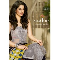 Asim Jofa Luxury Lawn Collection 2016 Original - 03 Pcs Suit AJL7-A