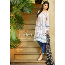 Asim Jofa Luxury Lawn Collection 2016 Original - 03 Pcs Suit AJL8-B