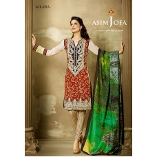 Asim Jofa Luxury Lawn Collection 2016 Original - 03 Pcs Suit AJL9-A