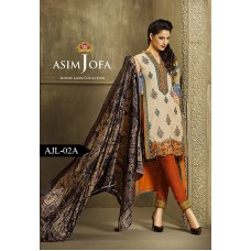 Asim Jofa Luxury Lawn Collection 2016 Original -03 Pcs Suit AJL2-A