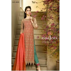Asim Jofa Luxury Lawn Collection 2016 Original - 03 Pcs Suit AJL6-B