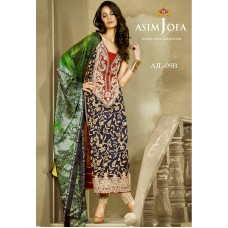 Asim Jofa Luxury Lawn Collection 2016 Original - 03 Pcs Suit AJL9-B