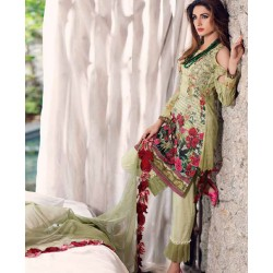 Mahiymaan Eid Collection 2017 Master Replica - 03 Pcs Suite - MNL 07