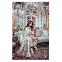 *Maria B. Luxury Chiffon Collection 2017 - 03 Pcs Suite-MB-110