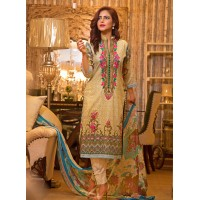 Nazia Hassan By Strawberry Festive Collection 2016 Original - 03 Pcs Suite - 05A