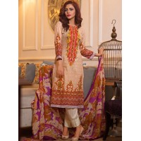 Nazia Hassan By Strawberry Festive Collection 2016 Original - 03 Pcs Suite - 05B